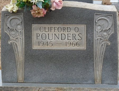 POUNDERS, CLIFFORD O - Colbert County, Alabama | CLIFFORD O POUNDERS - Alabama Gravestone Photos