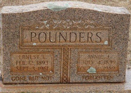 POUNDERS, ERNEST E - Colbert County, Alabama   ERNEST E POUNDERS - Alabama Gravestone Photos