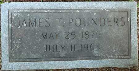 POUNDERS, JAMES T - Colbert County, Alabama | JAMES T POUNDERS - Alabama Gravestone Photos
