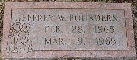 POUNDERS, JEFFREY W - Colbert County, Alabama | JEFFREY W POUNDERS - Alabama Gravestone Photos
