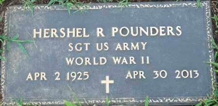 POUNDERS (VETERAN WWII), HERSHEL R - Colbert County, Alabama   HERSHEL R POUNDERS (VETERAN WWII) - Alabama Gravestone Photos