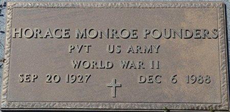 POUNDERS (VETERAN WWII), HORACE MONROE - Colbert County, Alabama   HORACE MONROE POUNDERS (VETERAN WWII) - Alabama Gravestone Photos