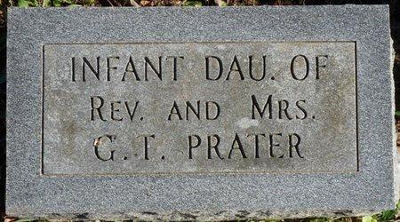 PRATER, INFANT DAUGHTER - Colbert County, Alabama   INFANT DAUGHTER PRATER - Alabama Gravestone Photos