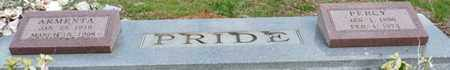 PRIDE, ARMENTA - Colbert County, Alabama   ARMENTA PRIDE - Alabama Gravestone Photos
