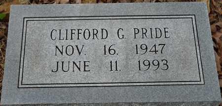 PRIDE, CLIFFORD G - Colbert County, Alabama | CLIFFORD G PRIDE - Alabama Gravestone Photos