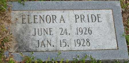 PRIDE, ELENORA - Colbert County, Alabama | ELENORA PRIDE - Alabama Gravestone Photos