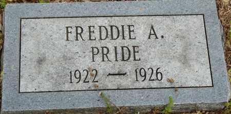 PRIDE, FREDDIE A - Colbert County, Alabama | FREDDIE A PRIDE - Alabama Gravestone Photos