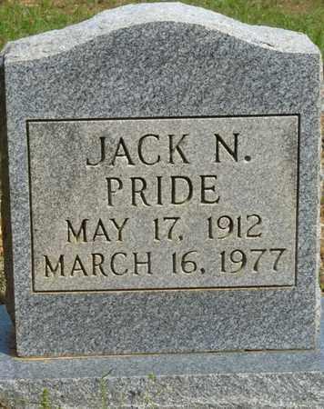 PRIDE, JACK N - Colbert County, Alabama   JACK N PRIDE - Alabama Gravestone Photos