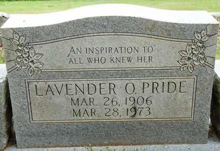 PRIDE, LAVENDER O - Colbert County, Alabama   LAVENDER O PRIDE - Alabama Gravestone Photos