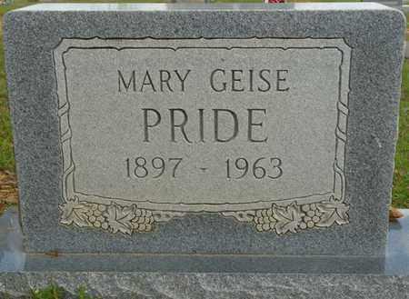 PRIDE, MARY GEISE - Colbert County, Alabama   MARY GEISE PRIDE - Alabama Gravestone Photos