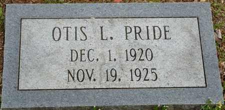 PRIDE, OTIS L - Colbert County, Alabama   OTIS L PRIDE - Alabama Gravestone Photos