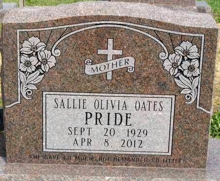 OATES PRIDE, SALLIE OLIVIA - Colbert County, Alabama | SALLIE OLIVIA OATES PRIDE - Alabama Gravestone Photos