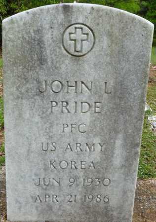 PRIDE (VETERAN KOR), JOHN L - Colbert County, Alabama | JOHN L PRIDE (VETERAN KOR) - Alabama Gravestone Photos