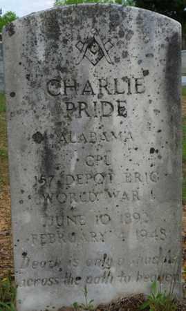 PRIDE (VETERAN WWI), CHARLIE - Colbert County, Alabama   CHARLIE PRIDE (VETERAN WWI) - Alabama Gravestone Photos