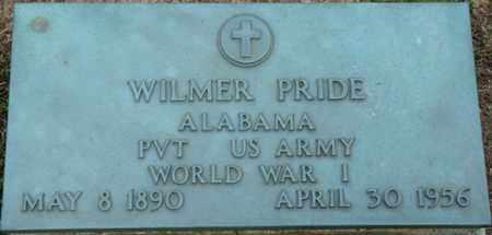 PRIDE (VETERAN WWI), WILMER - Colbert County, Alabama | WILMER PRIDE (VETERAN WWI) - Alabama Gravestone Photos