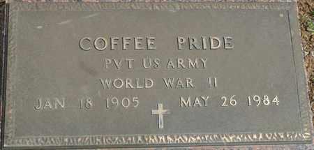 PRIDE (VETERAN WWII), COFFEE - Colbert County, Alabama | COFFEE PRIDE (VETERAN WWII) - Alabama Gravestone Photos