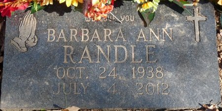 RANDLE, BARBARA ANN - Colbert County, Alabama | BARBARA ANN RANDLE - Alabama Gravestone Photos
