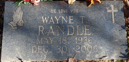 RANDLE, WAYNE T - Colbert County, Alabama | WAYNE T RANDLE - Alabama Gravestone Photos