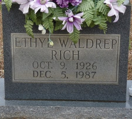 RICH, ETHYL WYESE - Colbert County, Alabama | ETHYL WYESE RICH - Alabama Gravestone Photos