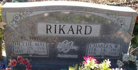 RIKARD, CHARLES W - Colbert County, Alabama | CHARLES W RIKARD - Alabama Gravestone Photos