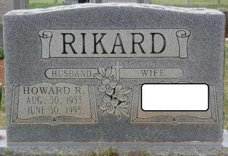 RIKARD, HOWARD R - Colbert County, Alabama | HOWARD R RIKARD - Alabama Gravestone Photos