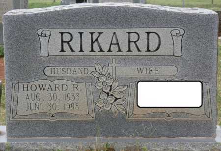 RIKARD, HOWARD R - Colbert County, Alabama | HOWARD R RIKARD - Alabama Gravestone Photos