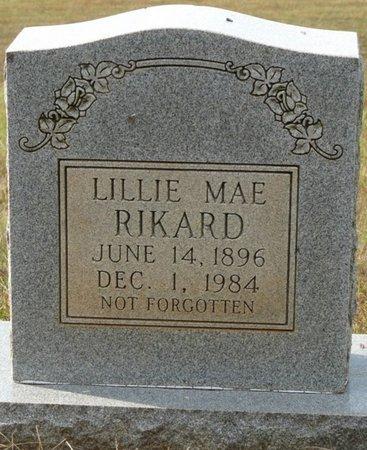 RIKARD, LILLIE MAE - Colbert County, Alabama | LILLIE MAE RIKARD - Alabama Gravestone Photos