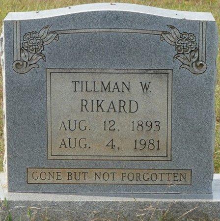 RIKARD, TILLMAN W - Colbert County, Alabama | TILLMAN W RIKARD - Alabama Gravestone Photos