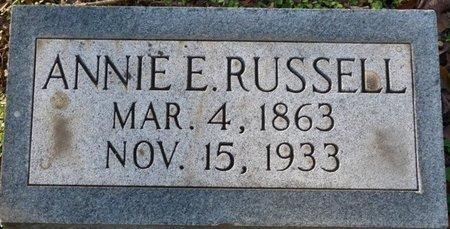 RUSSELL, ANNIE E - Colbert County, Alabama | ANNIE E RUSSELL - Alabama Gravestone Photos