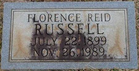 REID RUSSELL, FLORENCE - Colbert County, Alabama | FLORENCE REID RUSSELL - Alabama Gravestone Photos
