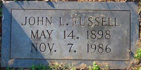 RUSSELL, JOHN L - Colbert County, Alabama | JOHN L RUSSELL - Alabama Gravestone Photos