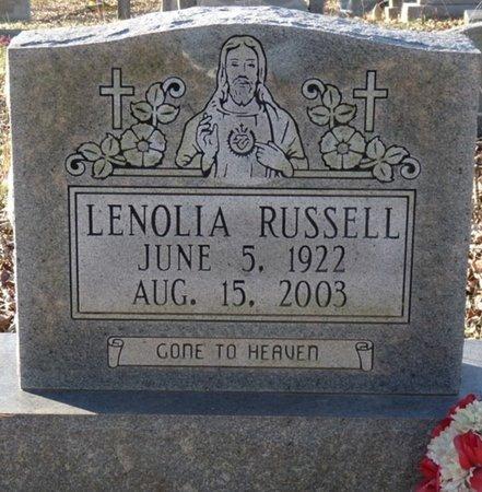 RUSSELL, LENOLIA - Colbert County, Alabama | LENOLIA RUSSELL - Alabama Gravestone Photos