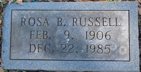 RUSSELL, ROSA B - Colbert County, Alabama | ROSA B RUSSELL - Alabama Gravestone Photos