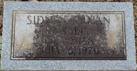 RUSSELL, SIDNEY ORMAN - Colbert County, Alabama | SIDNEY ORMAN RUSSELL - Alabama Gravestone Photos