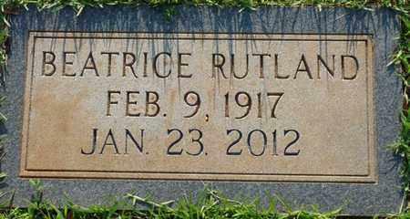 RUTLAND, BEATRICE - Colbert County, Alabama | BEATRICE RUTLAND - Alabama Gravestone Photos