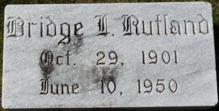 RUTLAND, BRIDGE INMAN - Colbert County, Alabama | BRIDGE INMAN RUTLAND - Alabama Gravestone Photos