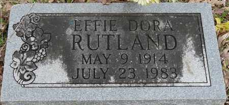 RUTLAND, EFFIE DORA - Colbert County, Alabama | EFFIE DORA RUTLAND - Alabama Gravestone Photos