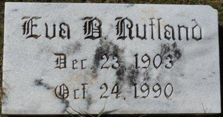 RUTLAND, EVA BELLE - Colbert County, Alabama   EVA BELLE RUTLAND - Alabama Gravestone Photos