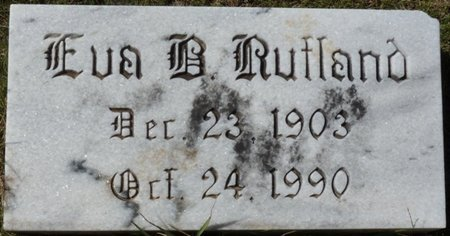 FOSTER RUTLAND, EVA BELLE - Colbert County, Alabama | EVA BELLE FOSTER RUTLAND - Alabama Gravestone Photos