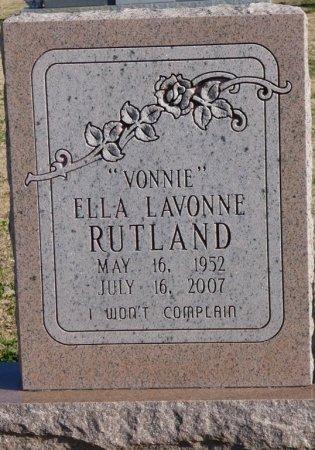 "RUTLAND, ELLA LAVONNE ""VONNIE"" - Colbert County, Alabama | ELLA LAVONNE ""VONNIE"" RUTLAND - Alabama Gravestone Photos"