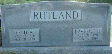RUTLAND, FRED W - Colbert County, Alabama | FRED W RUTLAND - Alabama Gravestone Photos