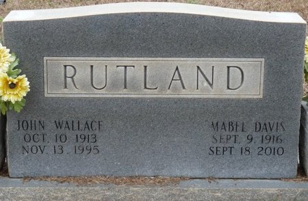 DAVIS RUTLAND, MATTIE MABEL - Colbert County, Alabama | MATTIE MABEL DAVIS RUTLAND - Alabama Gravestone Photos