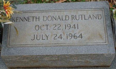 RUTLAND, KENNETH DONALD - Colbert County, Alabama | KENNETH DONALD RUTLAND - Alabama Gravestone Photos