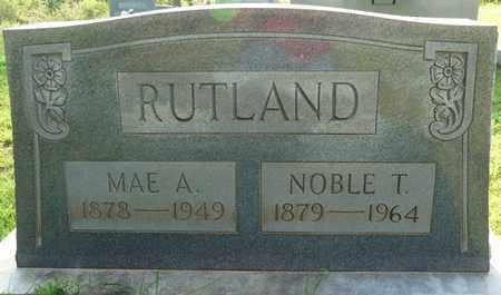 RUTLAND, MAE A - Colbert County, Alabama   MAE A RUTLAND - Alabama Gravestone Photos