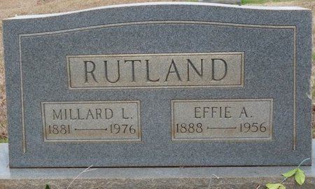 RUTLAND, MILLARD LEE - Colbert County, Alabama | MILLARD LEE RUTLAND - Alabama Gravestone Photos