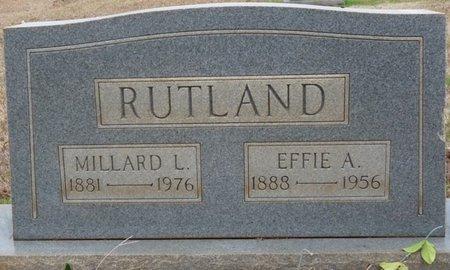 RUTLAND, EFFIE ALMA - Colbert County, Alabama | EFFIE ALMA RUTLAND - Alabama Gravestone Photos