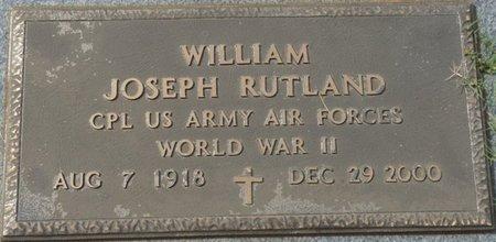 "RUTLAND (VETERAN WWII), WILLIAM JOSEPH ""JOE"" - Colbert County, Alabama | WILLIAM JOSEPH ""JOE"" RUTLAND (VETERAN WWII) - Alabama Gravestone Photos"