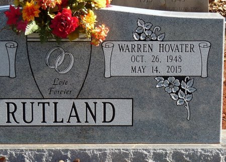RUTLAND, WARREN HOVATER - Colbert County, Alabama | WARREN HOVATER RUTLAND - Alabama Gravestone Photos