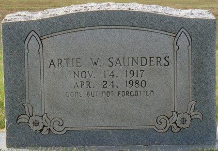 SAUNDER, ARTIE W - Colbert County, Alabama | ARTIE W SAUNDER - Alabama Gravestone Photos