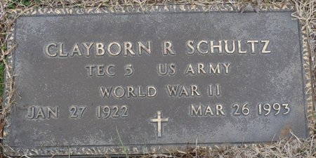 SCHULTZ (VETERAN WWII), CLAYBORN RUSSELL - Colbert County, Alabama | CLAYBORN RUSSELL SCHULTZ (VETERAN WWII) - Alabama Gravestone Photos